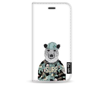 Surf Bear - Wallet Case White Apple iPhone 6 / 6S