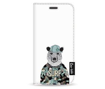 Surf Bear - Wallet Case White Apple iPhone 5 / 5s / SE