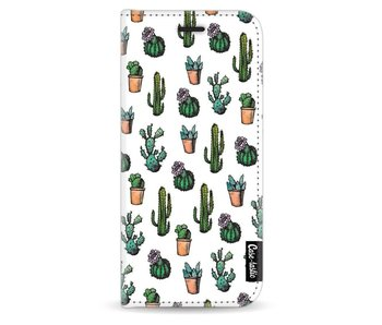 Cactus Dream - Wallet Case White Samsung Galaxy S8