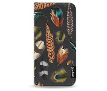 Feathers Multi - Wallet Case Black Apple iPhone 6 / 6S