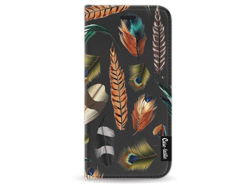 Casetastic Wallet Case Black Apple iPhone 6 / 6S - Feathers Multi