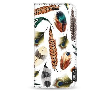 Feathers Multi - Wallet Case White Samsung Galaxy A5 (2017)