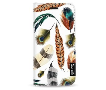 Feathers Multi - Wallet Case White Apple iPhone 5 / 5s / SE