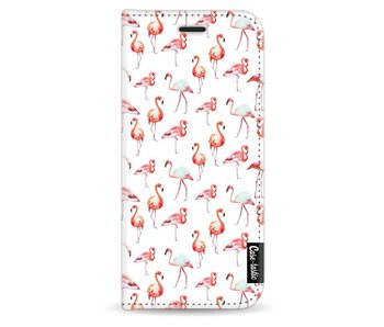 Flamingo Party - Wallet Case White Samsung Galaxy S8