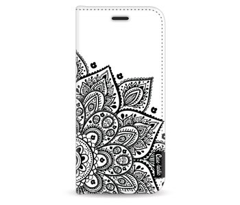 Floral Mandala - Wallet Case White Samsung Galaxy S8