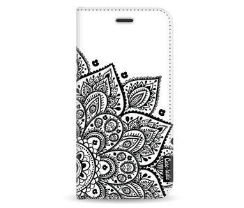 Floral Mandala - Wallet Case White Samsung Galaxy A5 (2017)