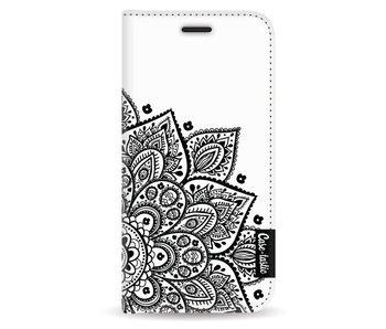 Floral Mandala - Wallet Case White Apple iPhone 5 / 5s / SE