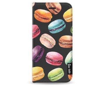 Macaron Mania - Wallet Case Black Apple iPhone 6 / 6S