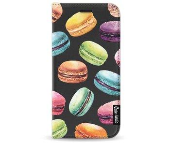 Macaron Mania - Wallet Case Black Samsung Galaxy A3 (2017)
