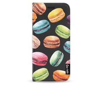 Macaron Mania - Wallet Case Black Samsung Galaxy S8