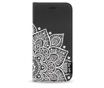 Floral Mandala White - Wallet Case Black Apple iPhone 6 / 6S
