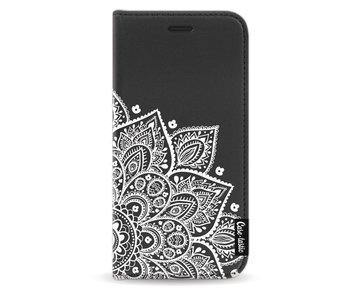Floral Mandala White - Wallet Case Black Samsung Galaxy A5 (2017)