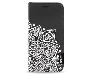 Floral Mandala White - Wallet Case Black Apple iPhone 5 / 5s / SE