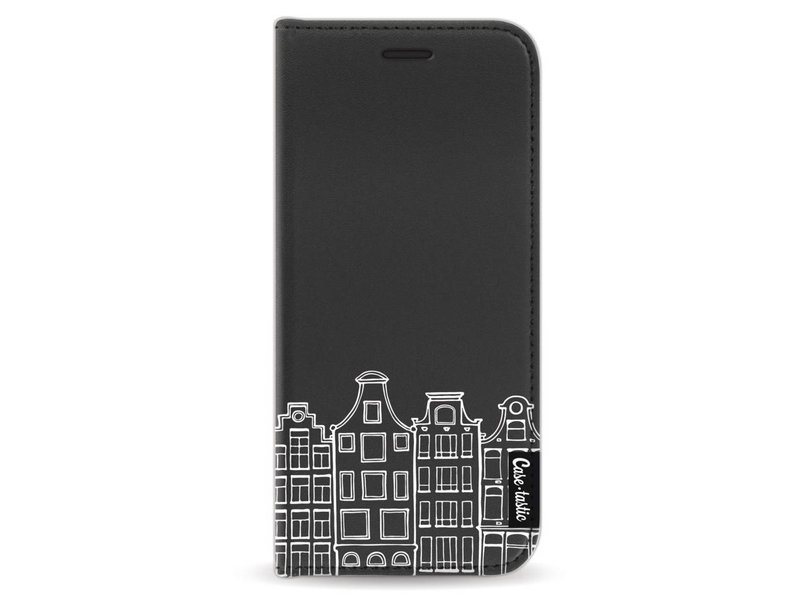 Casetastic Wallet Case Black Samsung Galaxy S8 - Amsterdam Canal Houses White