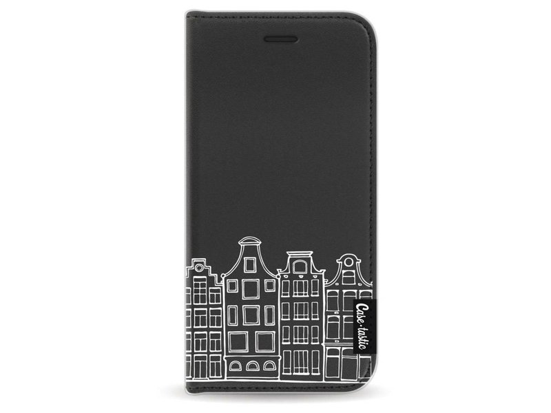 Casetastic Wallet Case Black Apple iPhone 6 / 6S - Amsterdam Canal Houses White