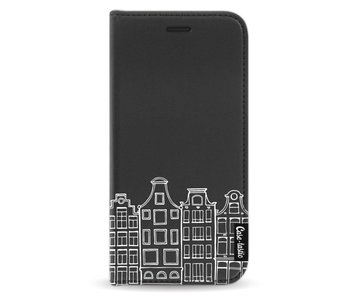 Amsterdam Canal Houses White - Wallet Case Black Samsung Galaxy A5 (2017)