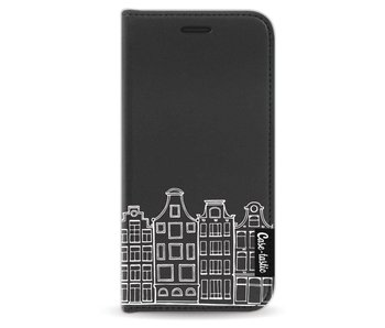 Amsterdam Canal Houses White - Wallet Case Black Apple iPhone 5 / 5s / SE