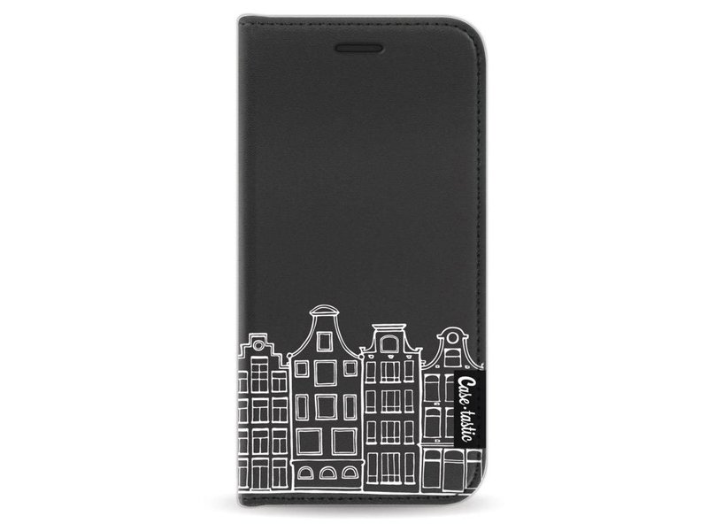 Casetastic Wallet Case Black Apple iPhone 5 / 5s / SE - Amsterdam Canal Houses White