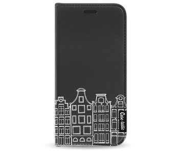 Amsterdam Canal Houses White - Wallet Case Black Samsung Galaxy A3 (2017)