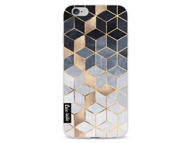 Casetastic Softcover Apple iPhone 6 / 6s  - Soft Blue Gradient Cubes