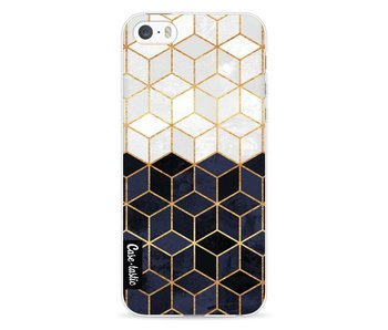 White and Navy Cubes - Apple iPhone 5 / 5s / SE