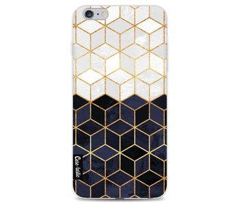 White and Navy Cubes - Apple iPhone 6 Plus / 6s Plus
