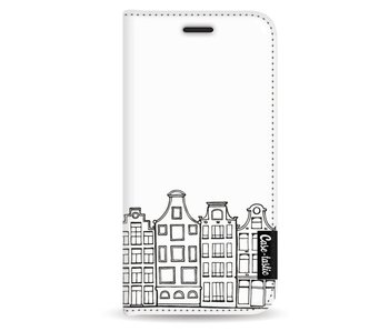 Amsterdam Canal Houses - Wallet Case White Apple iPhone 5 / 5s / SE