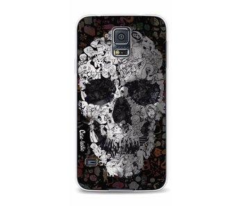 Doodle Skull BW - Samsung Galaxy S5