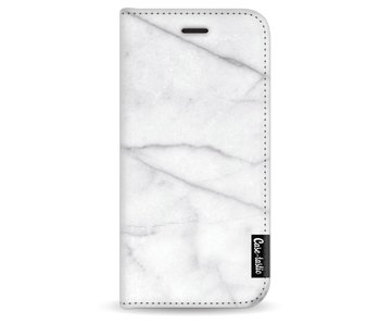 White Marble - Wallet Case White Apple iPhone 6 / 6S