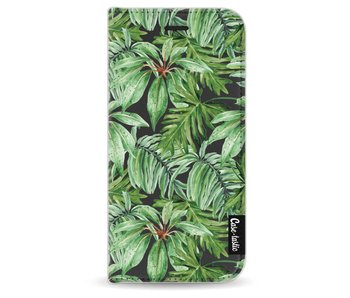 Transparent Leaves - Wallet Case Black Apple iPhone 6