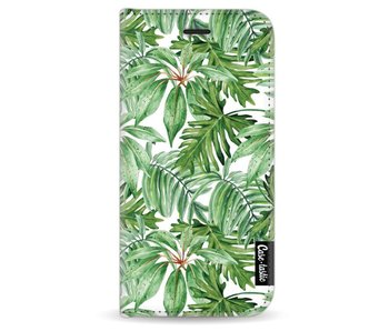 Transparent Leaves - Wallet Case White Apple iPhone 6