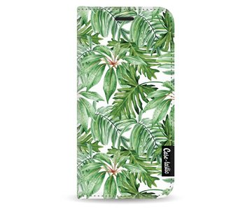 Transparent Leaves - Wallet Case White Apple iPhone 5 / 5s / SE
