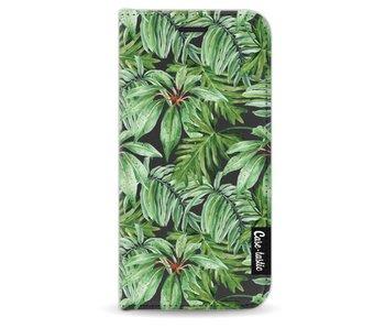 Transparent Leaves - Wallet Case Black Apple iPhone 5 / 5s / SE