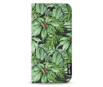 Transparent Leaves - Wallet Case Black Samsung Galaxy A3 (2017)