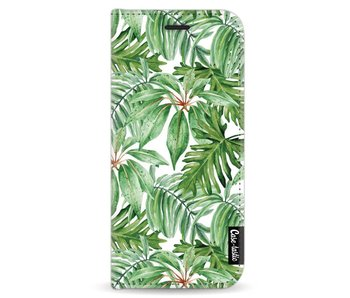 Transparent Leaves - Wallet Case White Samsung Galaxy S8