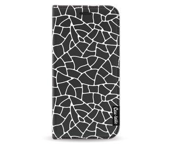 Transparent Mosaic White - Wallet Case Black Samsung Galaxy A3 (2017)