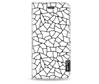Transparent Mosaic - Wallet Case White Apple iPhone 6