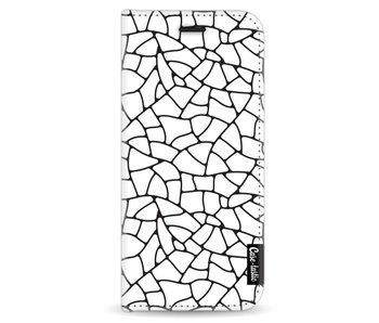 Transparent Mosaic - Wallet Case White Samsung Galaxy S8