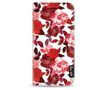 Royal Flowers Red - Wallet Case White Apple iPhone 6
