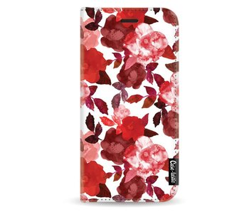 Royal Flowers Red - Wallet Case White Samsung Galaxy A5 (2017)
