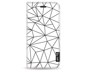 So Many Lines! Black - Wallet Case White Apple iPhone 6