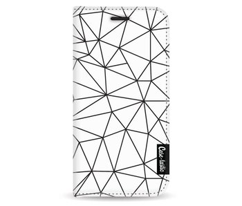 So Many Lines! Black - Wallet Case White Apple iPhone 5 / 5s / SE