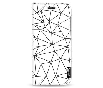 So Many Lines! Black - Wallet Case White Samsung Galaxy S8