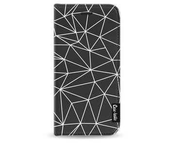 So Many Lines! White - Wallet Case Black Apple iPhone 6