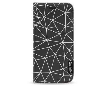 So Many Lines! White - Wallet Case Black Apple iPhone 5 / 5s / SE