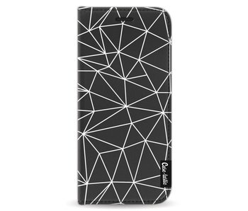 So Many Lines! White - Wallet Case Black Samsung Galaxy S8