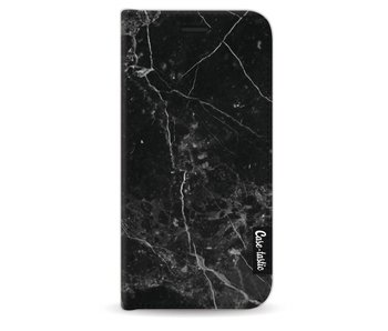 Black Marble - Wallet Case Black Apple iPhone 5 / 5s / SE