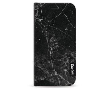 Black Marble - Wallet Case Black Apple iPhone 5 / 5s / SE