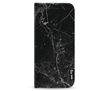 Black Marble - Wallet Case Black Samsung Galaxy S8