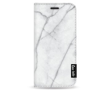 White Marble - Wallet Case White Apple iPhone 5 / 5s / SE